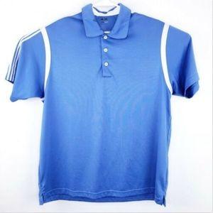 Adidas Polo Mens Large Shirt Golf Clima Cool Blue